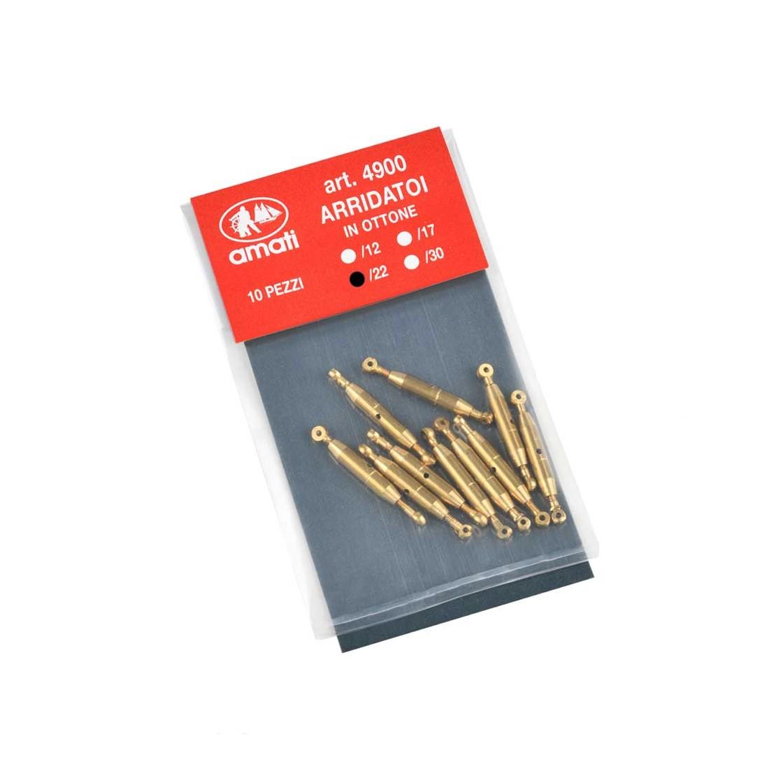 Brass turnbuckles mm.22