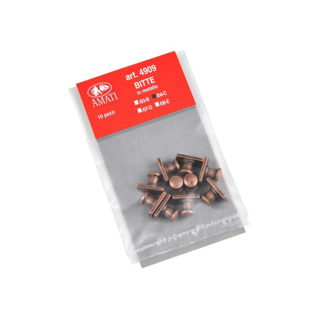 Bittes en métal mm.8 embasées
