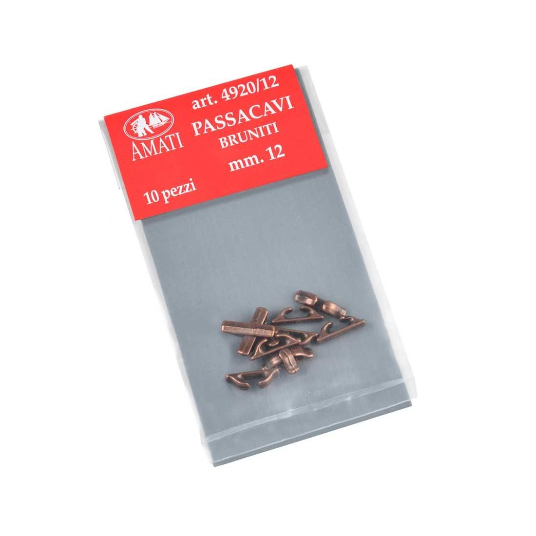Chaumards en métal bruni 12 mm