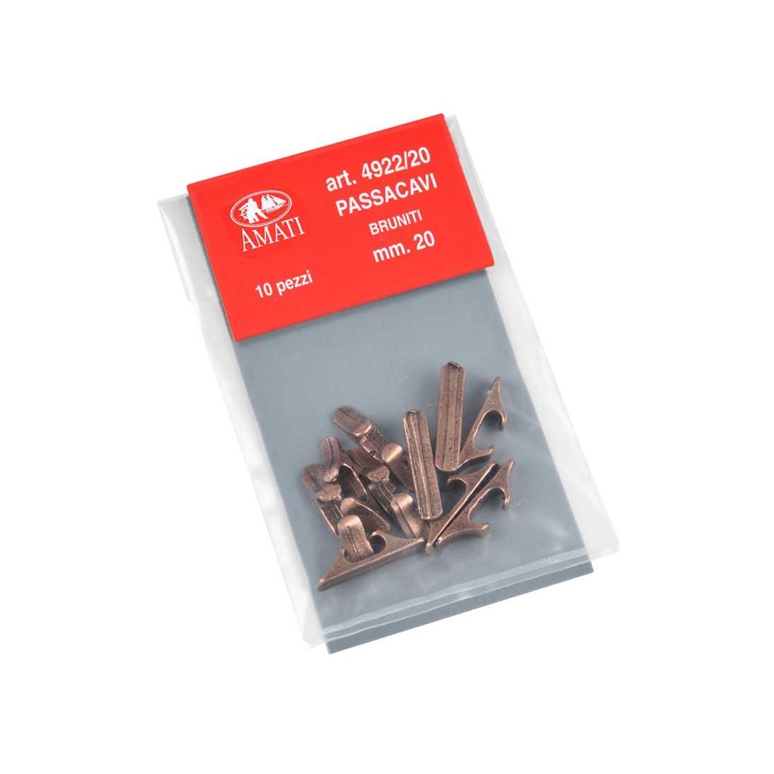 Chaumards en métal bruni 20 mm