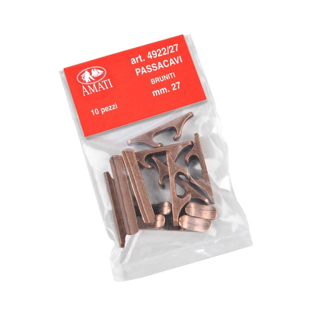 Chaumards en métal bruni 27 mm