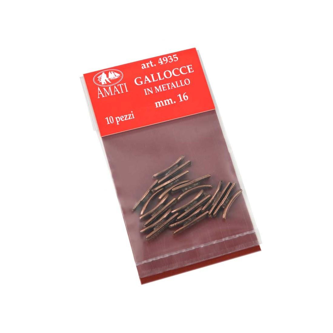 Taquets en métal mm.16