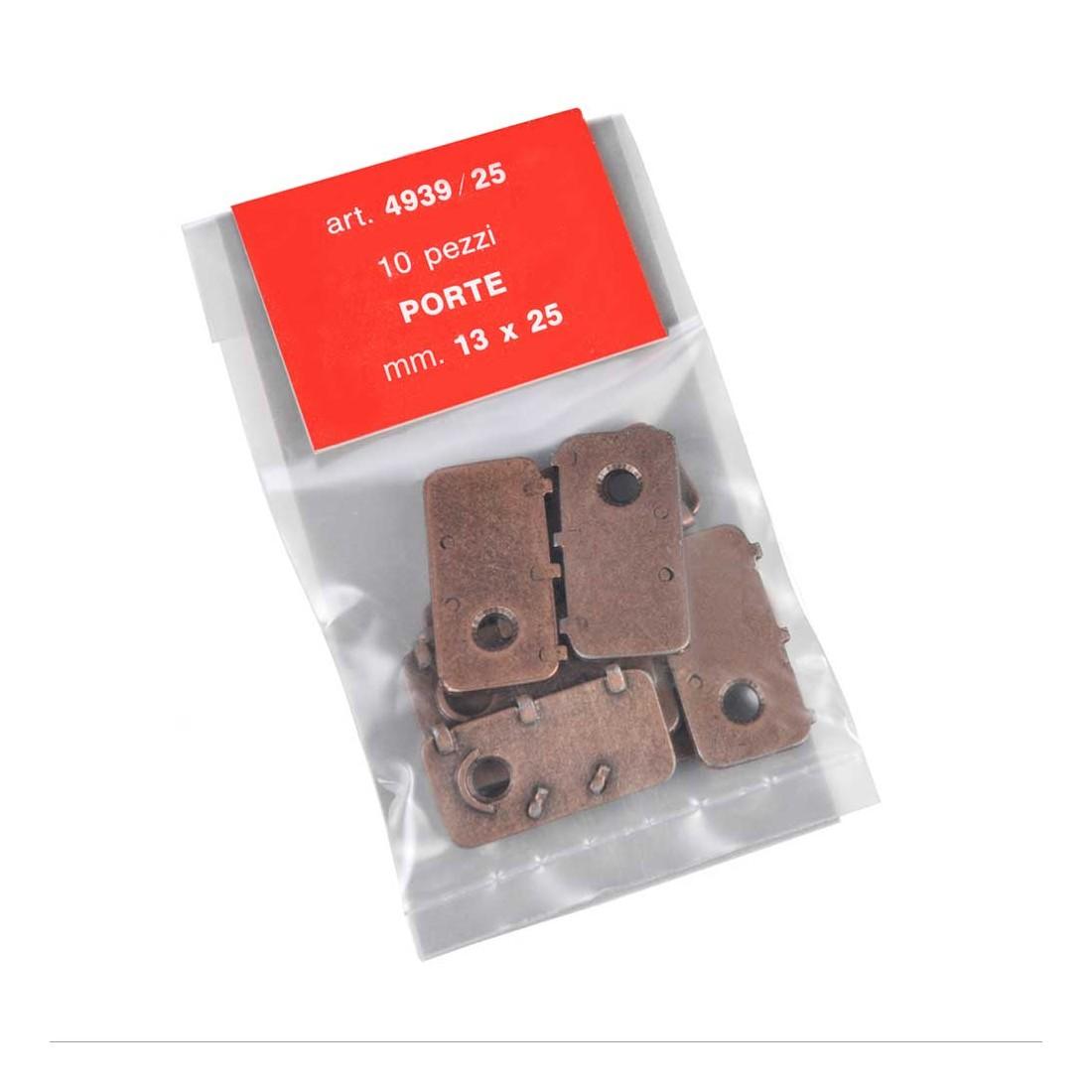 Portes métal 13x25 mm.