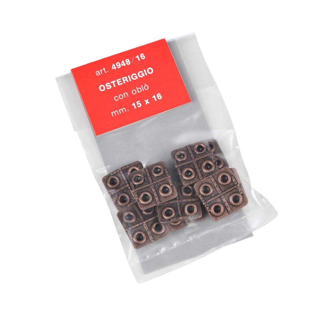 Osteriggi in metallo mm.  15x16