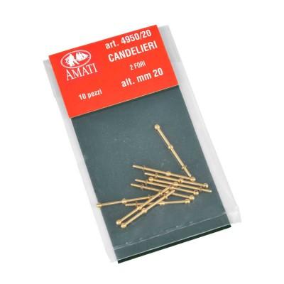 Candelieri ottone mm.20-2 fori