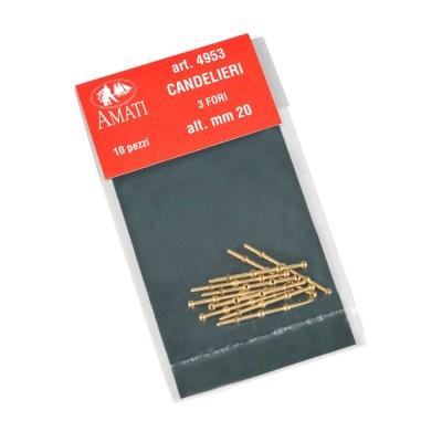 Candelieri ottone mm.20-3 fori