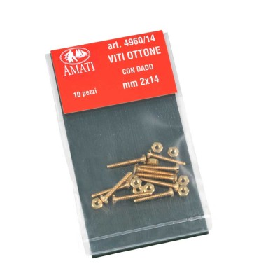Brass screws mm.2x14