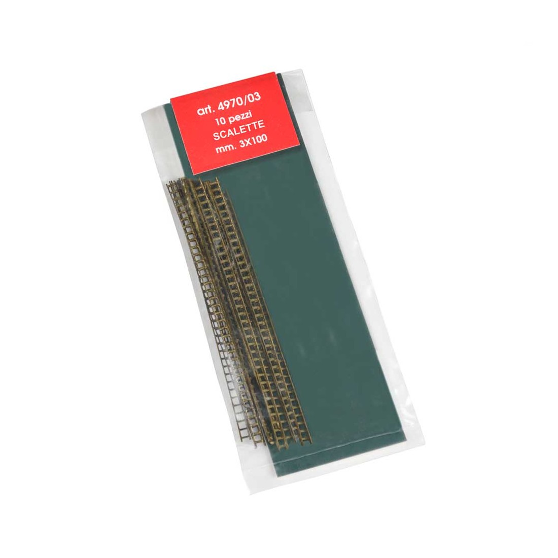 Echelles métal 3x100 mm.