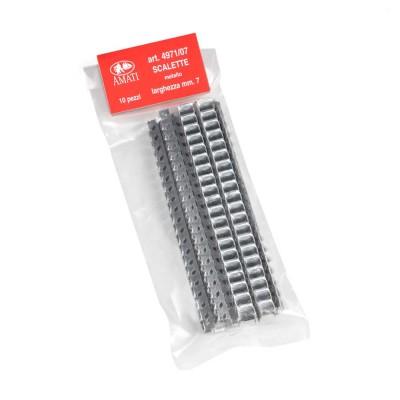 Scalette metallo mm.7x100