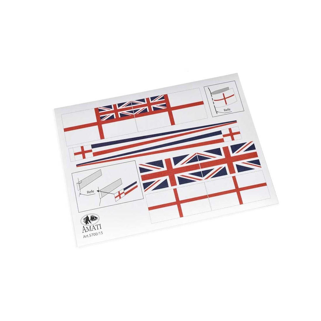 HMS banderas de victoria