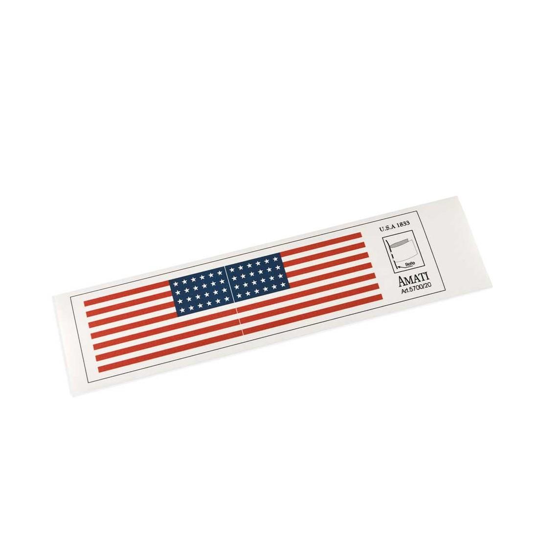 Drapeaux USA 1833