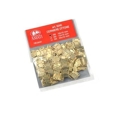 Cerniere ottonate mm. 10x10