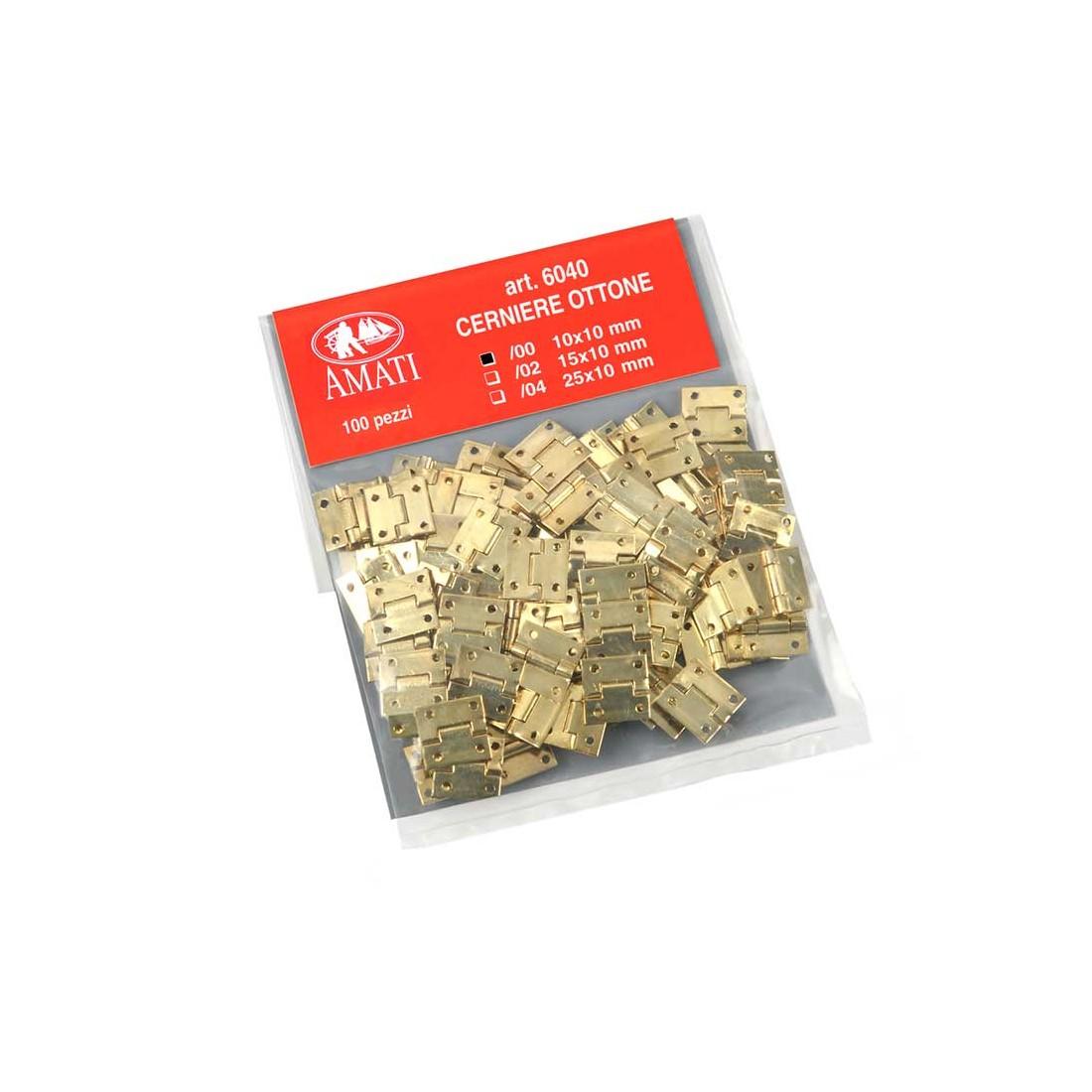 Charnières en laiton mm.10x10