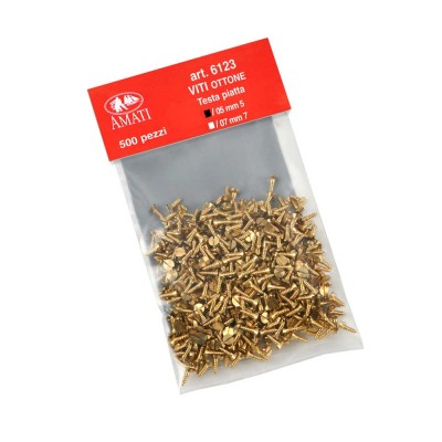 Brass screws mm.5