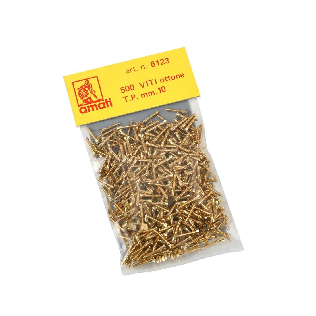 Brass screws mm.10