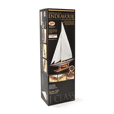 J-Class Endeavour 1:50 - pre-built wooden hull