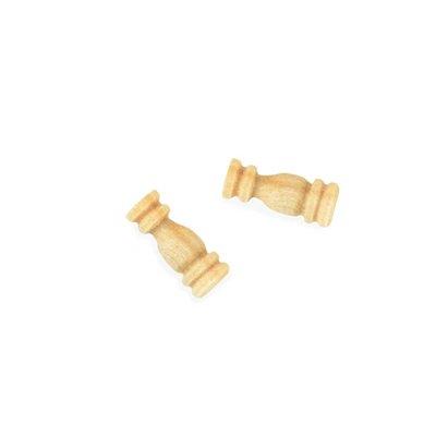 Puntales de madera de boj mm.6