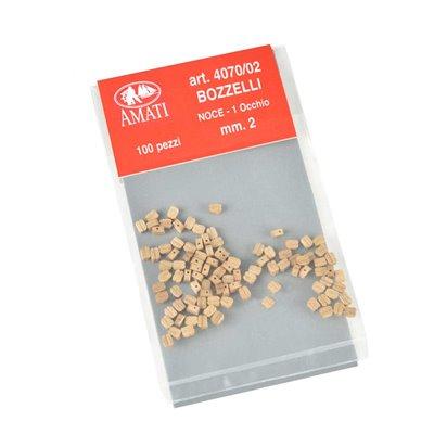 Bozzelli noce mm.2  1 foro