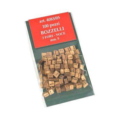 Walnut blocks mm.5-3 holes