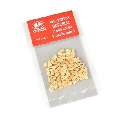 Bozzelli bosso mm.3  2 fori