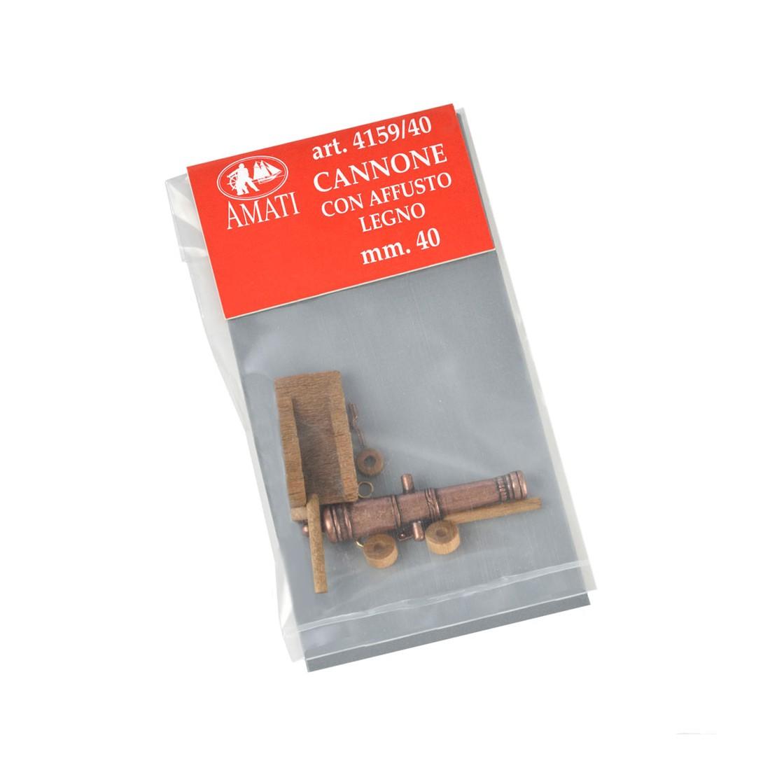 Cannoni affusto legno mm. 40