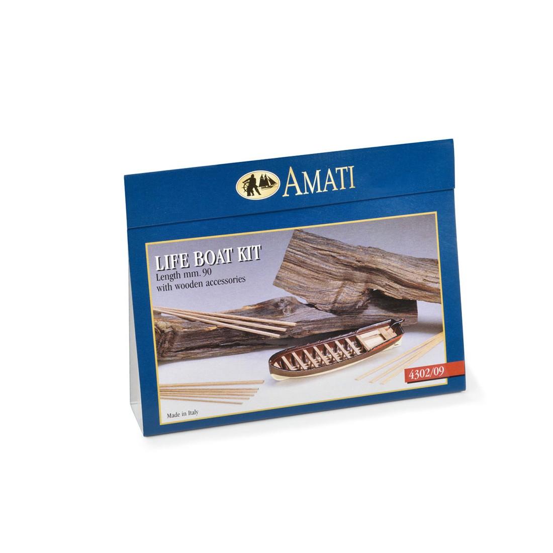 Botes salvavidas de madera-metal mm.90