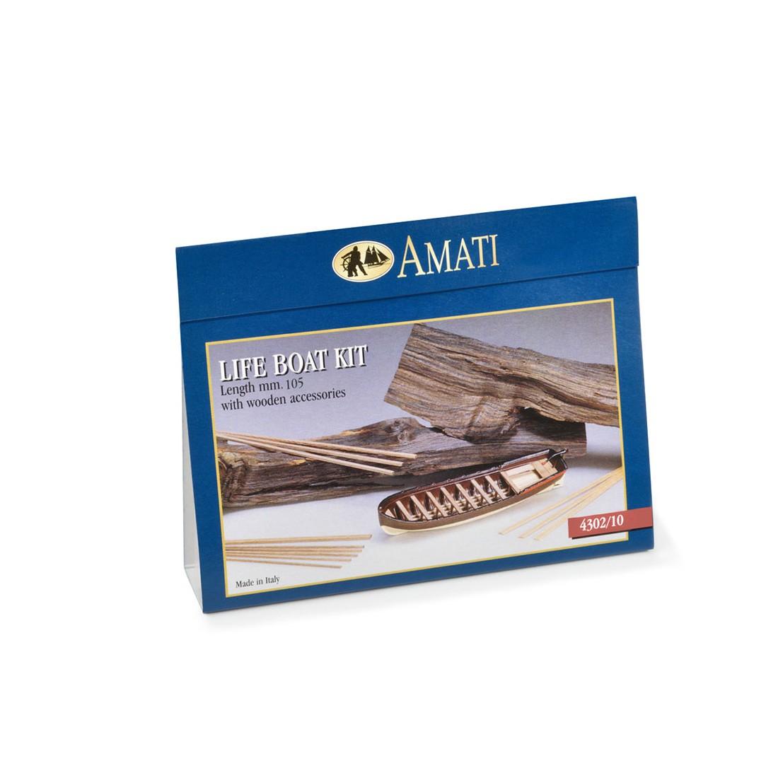 Scialuppe metallo-legno mm.105