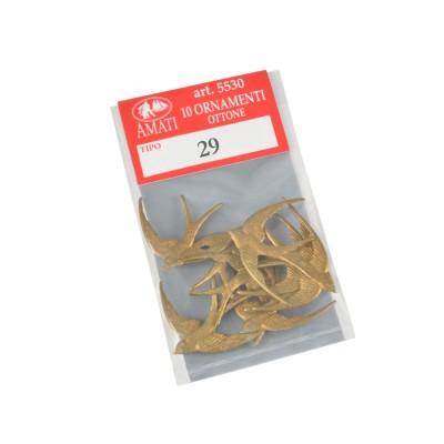Metal swallow mm.30x22