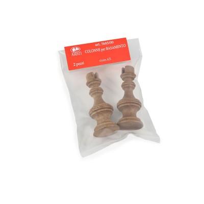 Colonnettes en bois mm. 65