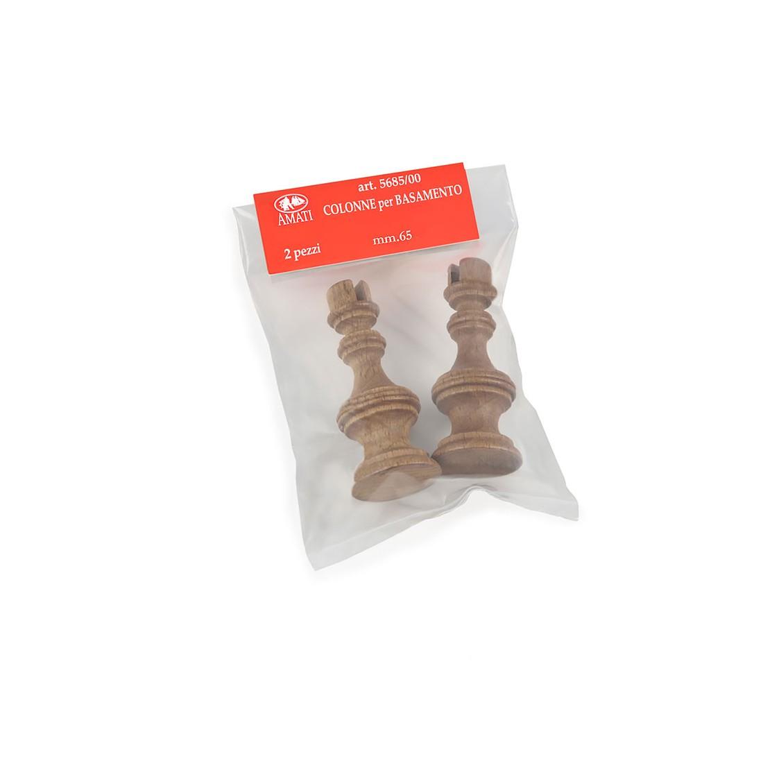 Wooden pedestals mm. 65