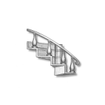 Escaleras (girando a la izquierda)