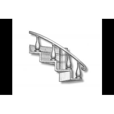 Escaliers tournants gauche
