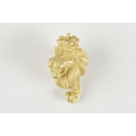 Metal figure-head lion