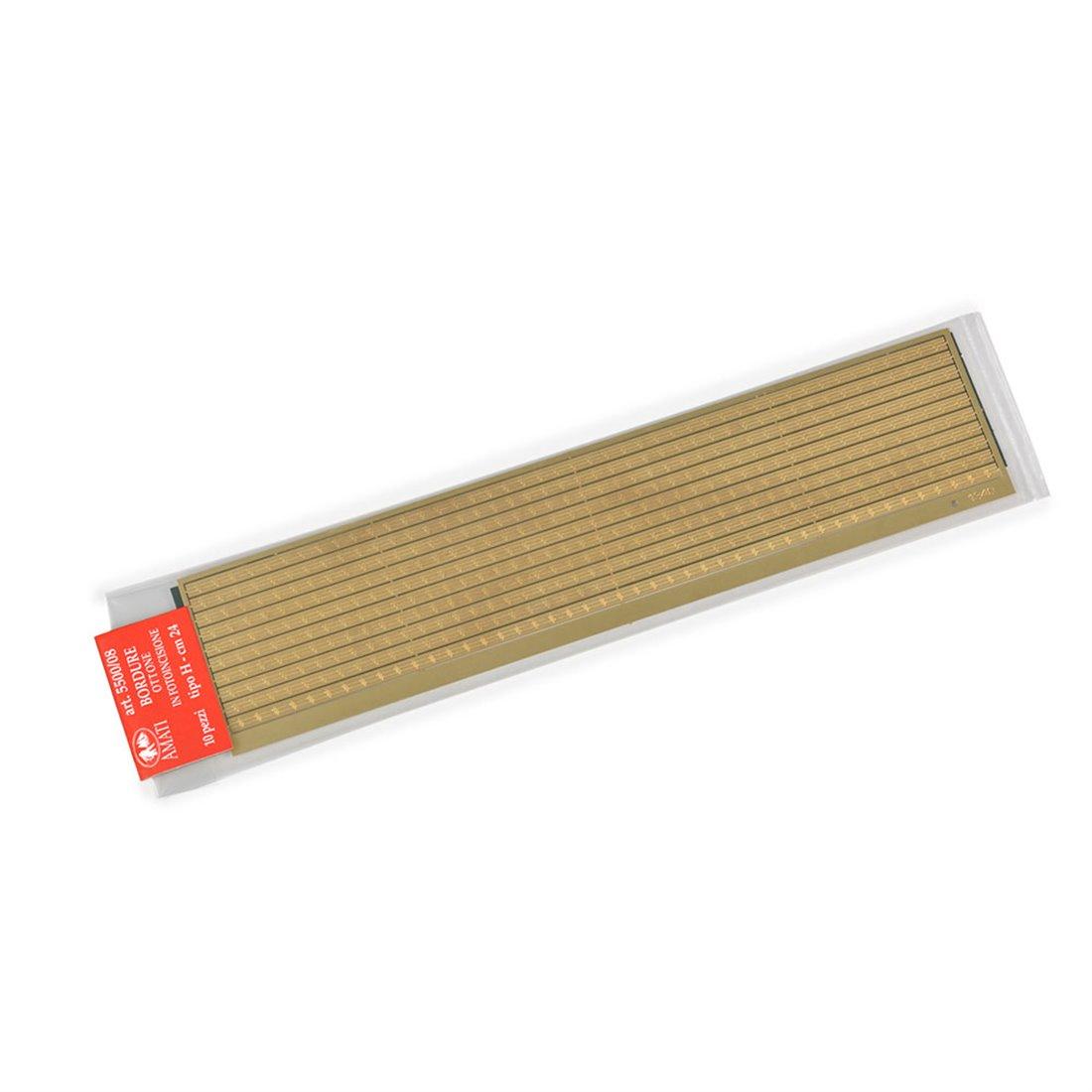 Bordures laiton type H photodécoupe (10 pcs-cm.24)